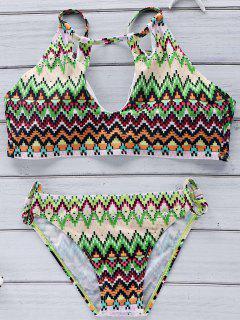 Neutraler Halter Printed Bikini Set - Xl