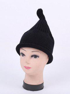 Winter Teat Shape Knit Hat - Black