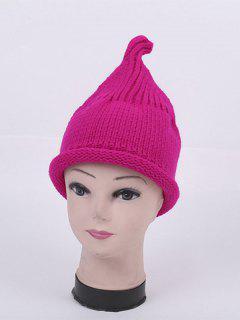 Winter Teat Shape Knit Hat - Bright Pink