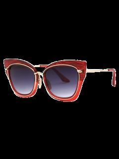 Lunettes De Soleil En Forme De'oeil De Chat à Style Vintage - Rouge