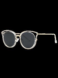 Lente Negro Gafas De Sol Del Ojo De Gato - Transparente