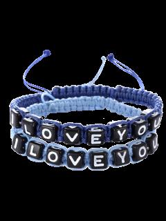Letters I Love You Bracelets - Sapphire Blue
