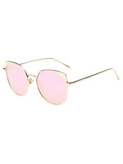Hipsters Cat Eye Mirrored Sunglasses - Shallow Pink