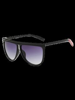 Del Bloque Del Color De La Pierna De Gran Tamaño Gafas De Sol - Negro