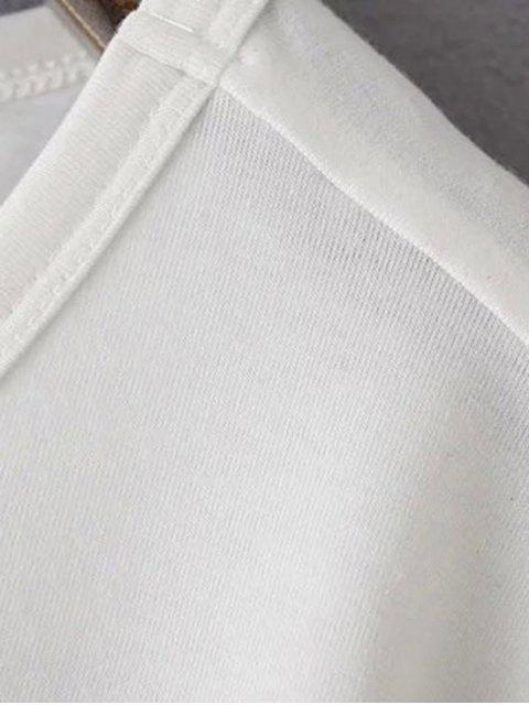 outfits Patchwork Pocket Solid Color T-Shirt - BLACK M Mobile