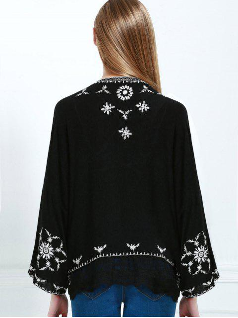 Kimono brodé - Noir L Mobile