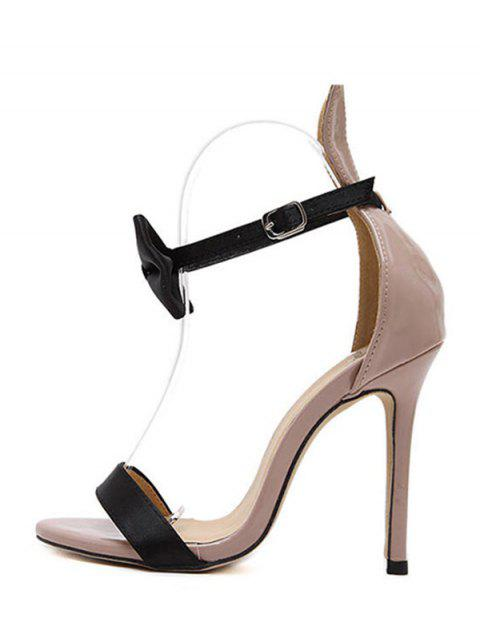 affordable Bow Bunny Ear Stiletto Heel Sandals -   Mobile