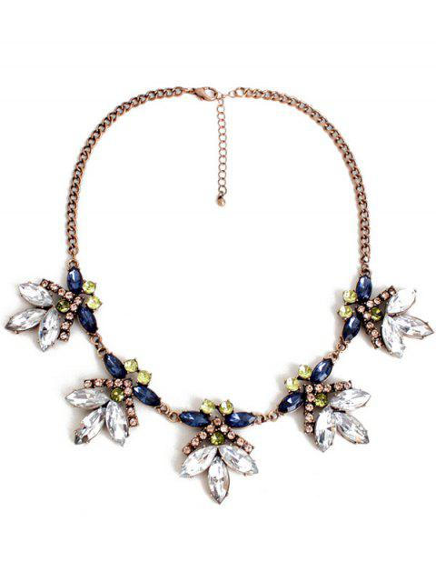 outfits Floral Faux Crystal Necklace -   Mobile