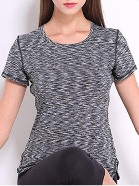 outfits Short Sleeve Sports Tee - GRAY M Mobile