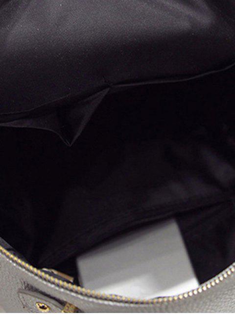 Gaufrage Solid Metal Couleur Satchel - Gris Clair  Mobile