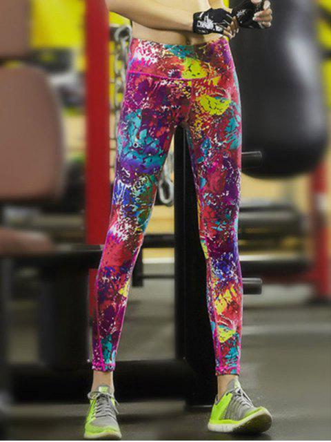 online Fitted Splatter Paint High Waist Yoga Pants -   Mobile