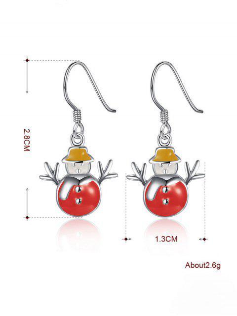 hot Enamel Snowman Christmas Earrings -   Mobile