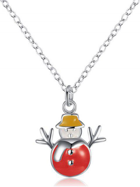 outfits Enamel Snowman Christmas Necklace -   Mobile