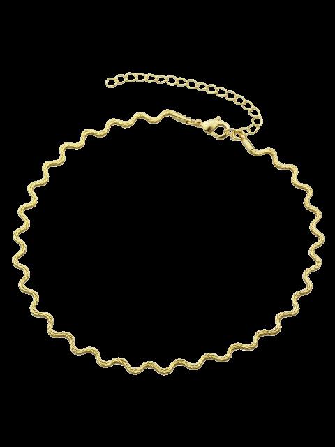 Wellenförmige Halskette aus Leigierung - Golden  Mobile