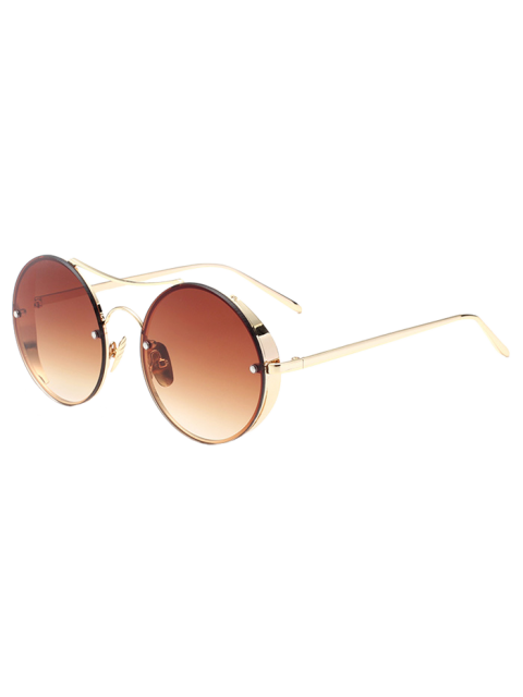 womens Chunky Round Frame Sunglasses - TEA-COLORED  Mobile