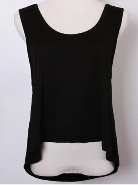women's Back Strap Relaxed Tank Top -   Mobile
