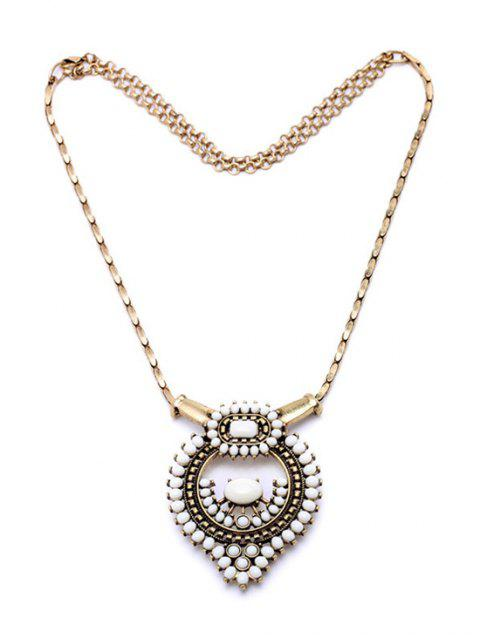 women's Vintage Bead Decorated Necklace -   Mobile