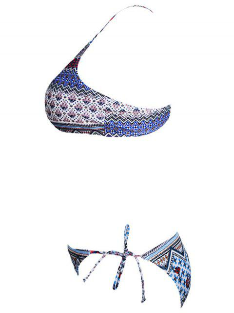 shops High Neck Tribal Print Keyhole Bikini - COLORMIX L Mobile