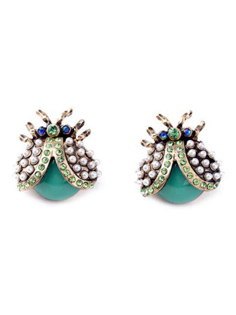Adorable strass coccinelle Boucles d'oreilles - Multicolore  Mobile