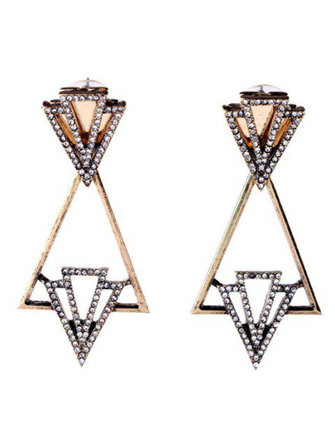 Boucles d'oreilles strass Triangle mode - Or  Mobile
