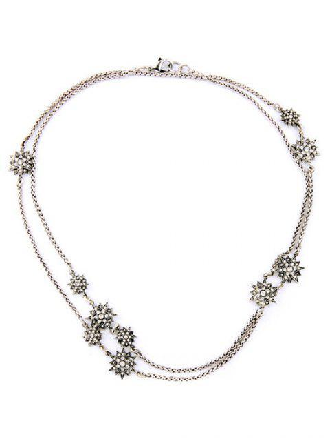 shop Alloy Star Necklace - SILVER  Mobile