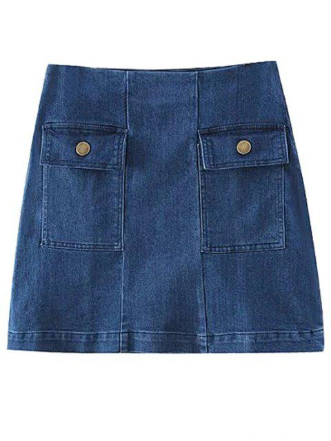 outfits Two Pockets Denim Mini Skirt -   Mobile