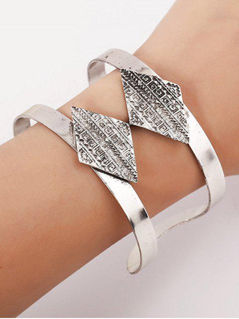 outfit Carving Rhombus Cuff Bracelet -   Mobile