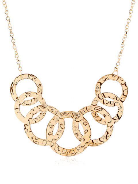 fancy Cross Circles Pendant Necklace -   Mobile