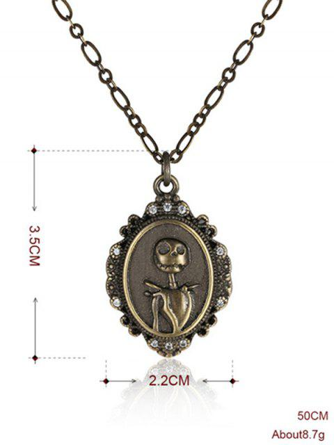 women Christmas Jack Figure Pendant Necklace -   Mobile