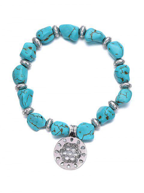 online Stylish Turquoise Elastic Bracelet - TURQUOISE  Mobile
