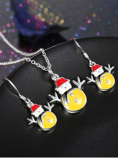 women's Enamel Snowman Christmas Jewelry Set -   Mobile