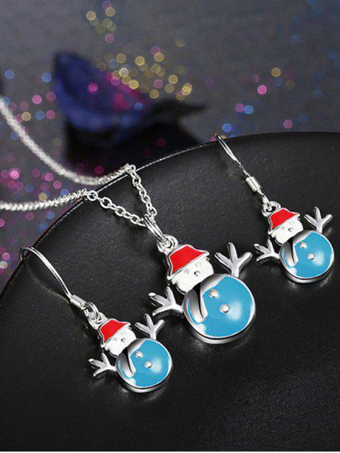 ladies Enamel Snowman Christmas Jewelry Set -   Mobile
