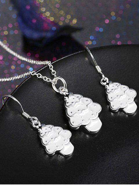 Poli Arbre de Noël Ensemble de bijoux - Blanc  Mobile