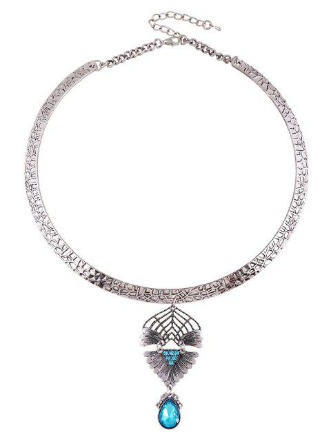 ladies Faux Crystal Decorated Torque Necklace -   Mobile