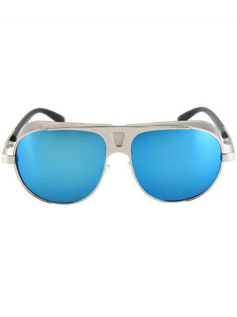 women's Hollow Out Hole Silver Metal Sunglasses -   Mobile