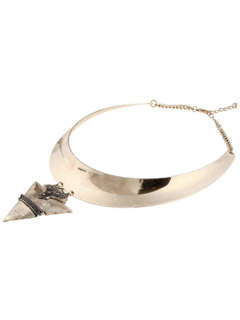 women Chunky Triangle Torque Necklace -   Mobile