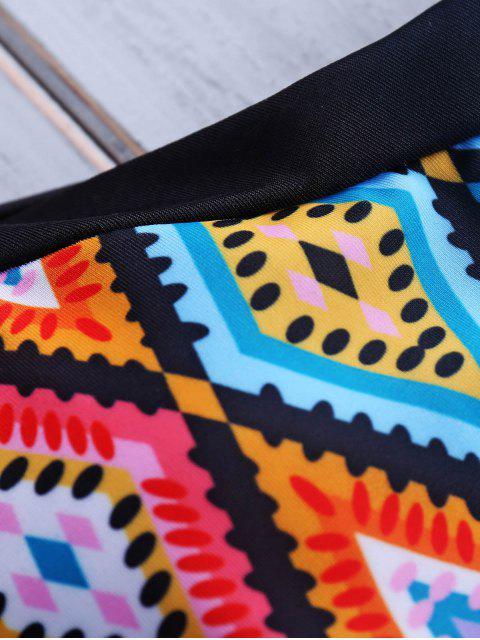 womens Printed Halter Bikini Set - COLORMIX L Mobile