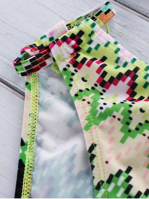 sale Cut Out Halter Printed Bikini Set - COLORMIX XL Mobile