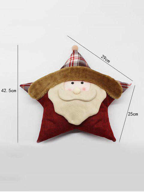 lady Santa Claus Star Pillow Merry Christmas Decoration -   Mobile