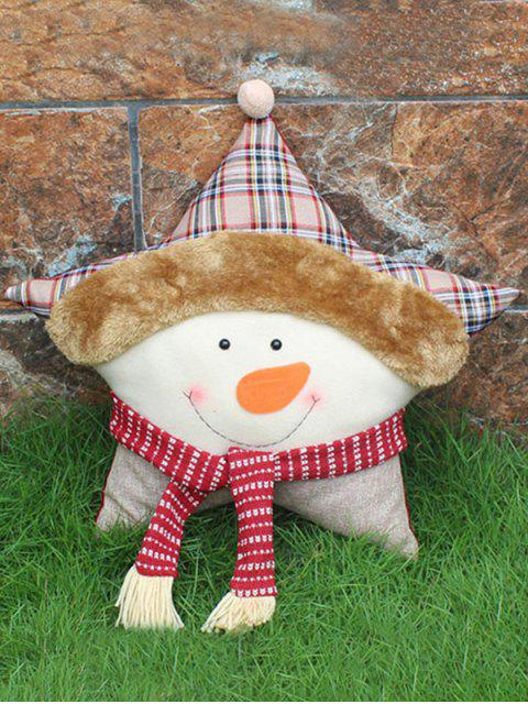 best Merry Christmas Party Decoration Snowman Star Pillow -   Mobile
