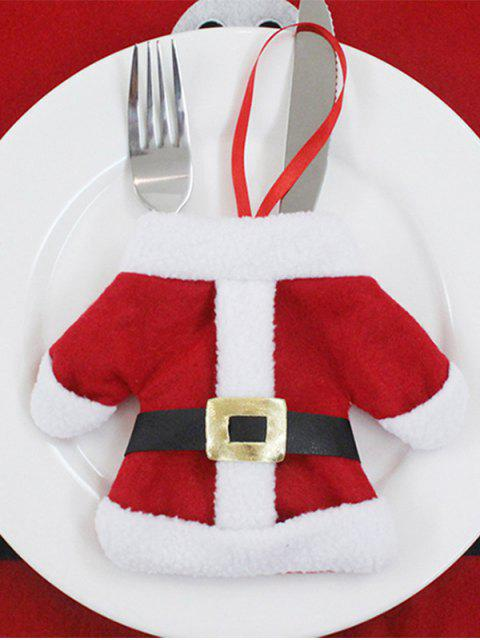 latest Christmas Santa Clothes Tableware Holder Bag -   Mobile