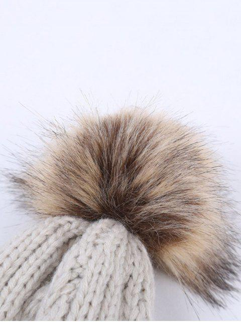 buy Winter Cable Knit Pom Hat -   Mobile