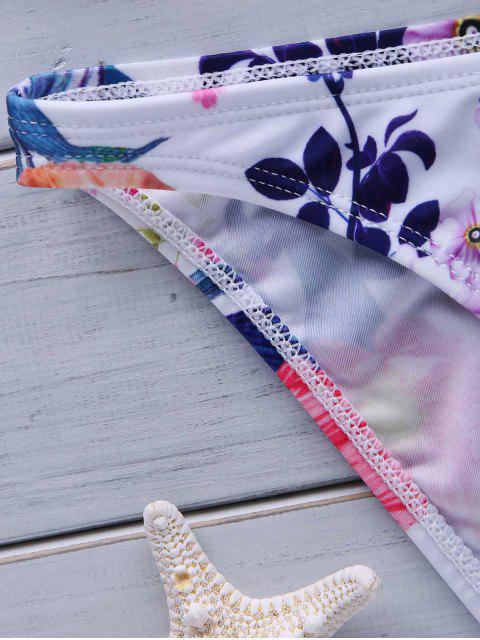 best Flower Print High Neck Bikini Set - COLORMIX S Mobile