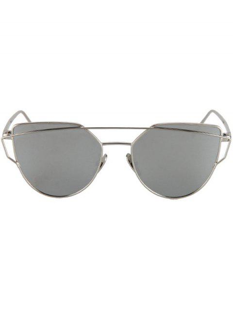 latest Metal Bar Silver Frame Sunglasses - SILVER  Mobile