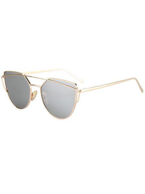 Metal Bar Golden Frame Pilot Sonnenbrille - SILVER  Mobile