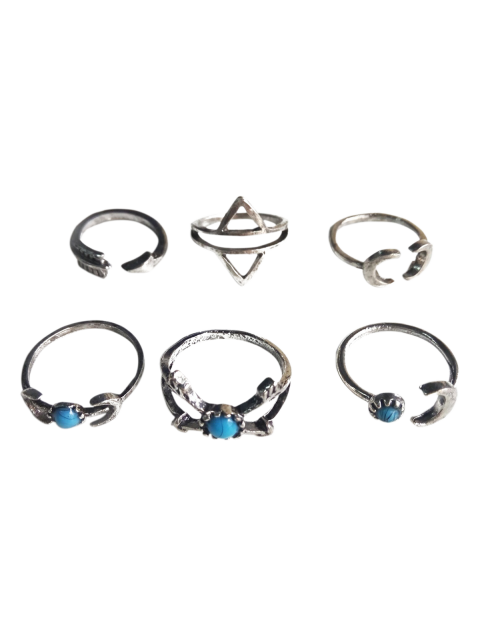 affordable Moon Arrow Ethnic Style Rings - SILVER  Mobile