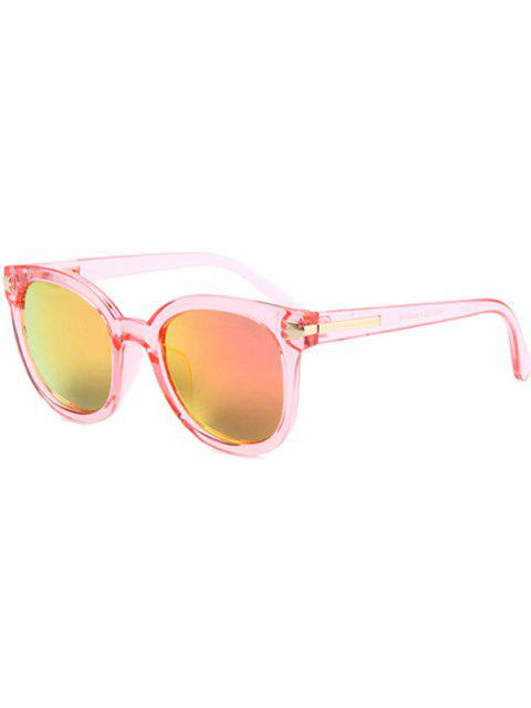 women Metal Inlay Transparent Sunglasses - PINK  Mobile