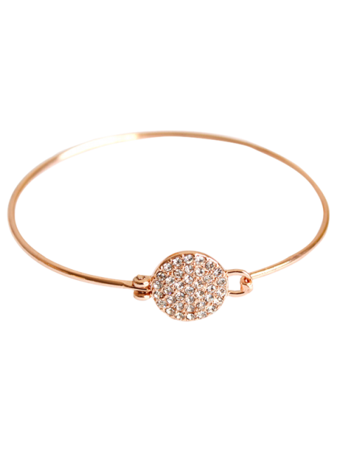 women's Rhinestone Round Alloy Bracelet - ROSE GOLD  Mobile