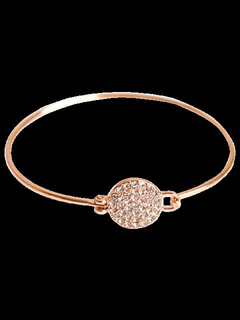 women's Rhinestone Round Alloy Bracelet - ROSE GOLD  Mobile