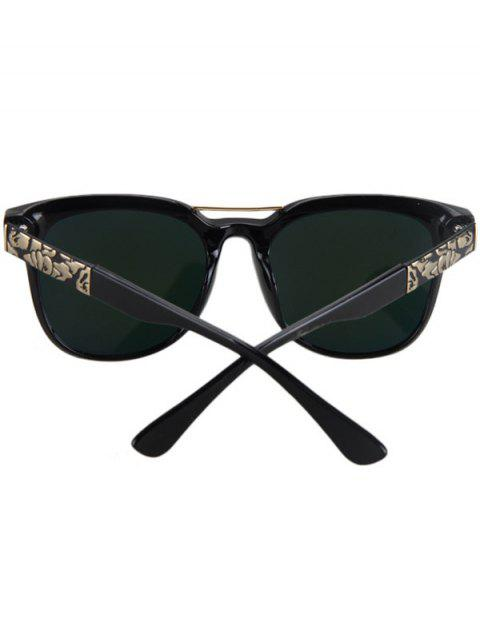 womens Flower Shape Bulge Black Frame Sunglasses -   Mobile